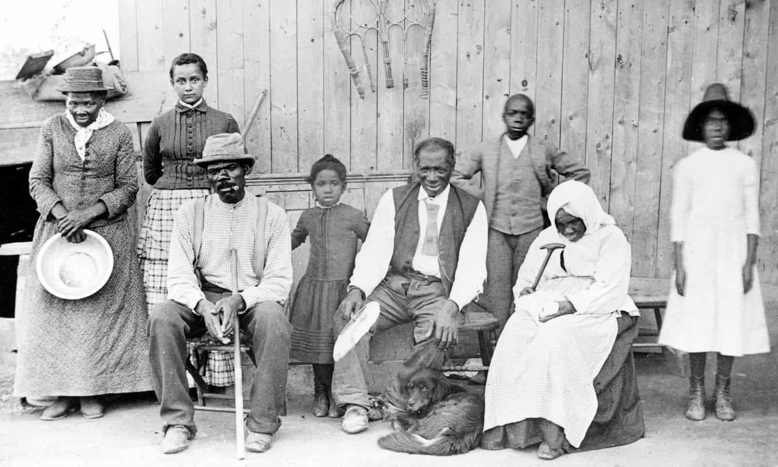 Harriet Tubman with Rescued Slaves, c. 1885