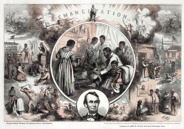 Emancipation By Thomas Nast 1865 The Abolition Seminar