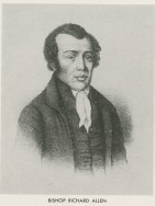 "Born a slave in Philadelphia in 1760, Allen bought his freedom and soon began traveling as an itinerant Methodist preacher throughout the eastern coast. While in a town near Philadelphia, Allen was asked to preach to a group of black congregants at St. George's Methodist Church, a group that soon began to blossom. With the growth of this black congregation, Allen recognized the necessity of creating their own separate black church, leading to the creation (with Absalom Jones) of the Free African Society, a non-denominational religious mutual aid society for the black community. Eventually this society grew into the African Church of Philadelphia. Allen continued his Methodist ministry, and seven years later, in 1794, founded Bethel, which became the ""Mother"" church of the African Methodist Episcopal Church, the first independent black denomination. Allen appears in this portrait as a stoic and thoughtful man, respectable in all manners of appearance. Dedicated to racial uplift and achievement for all his black brothers and sisters, Allen intentionally crafted his image as a model of a highly respected, pious, and socially minded African American."