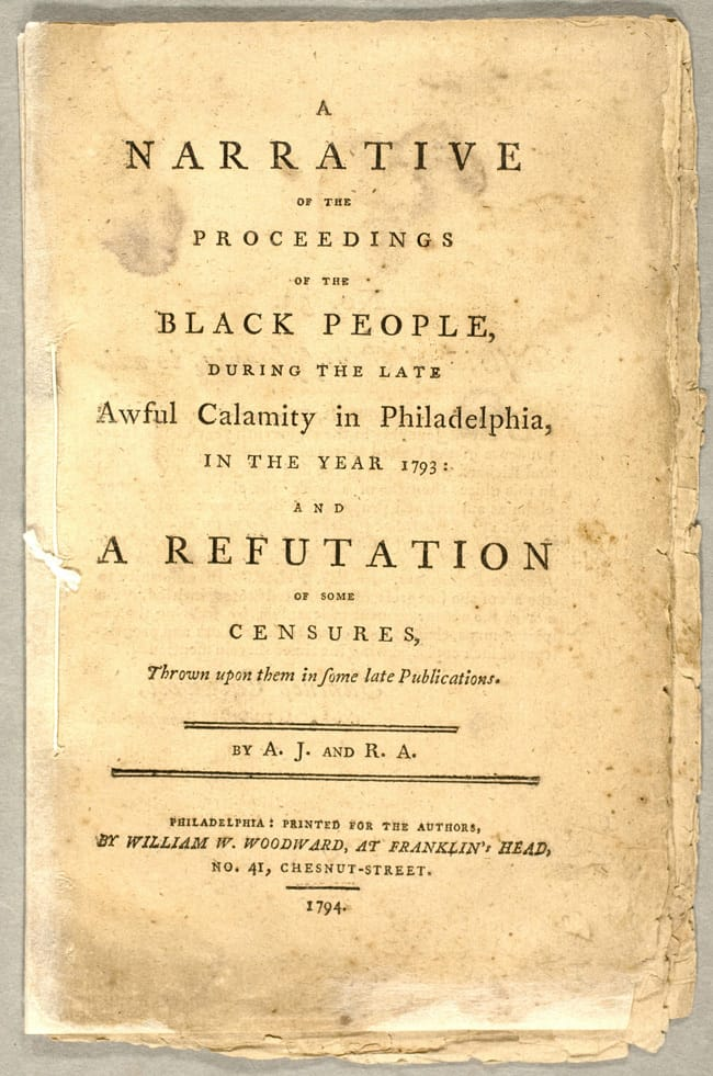 Narrative of the Proceedings of the Black People by Richard Allen and Absalom Jones